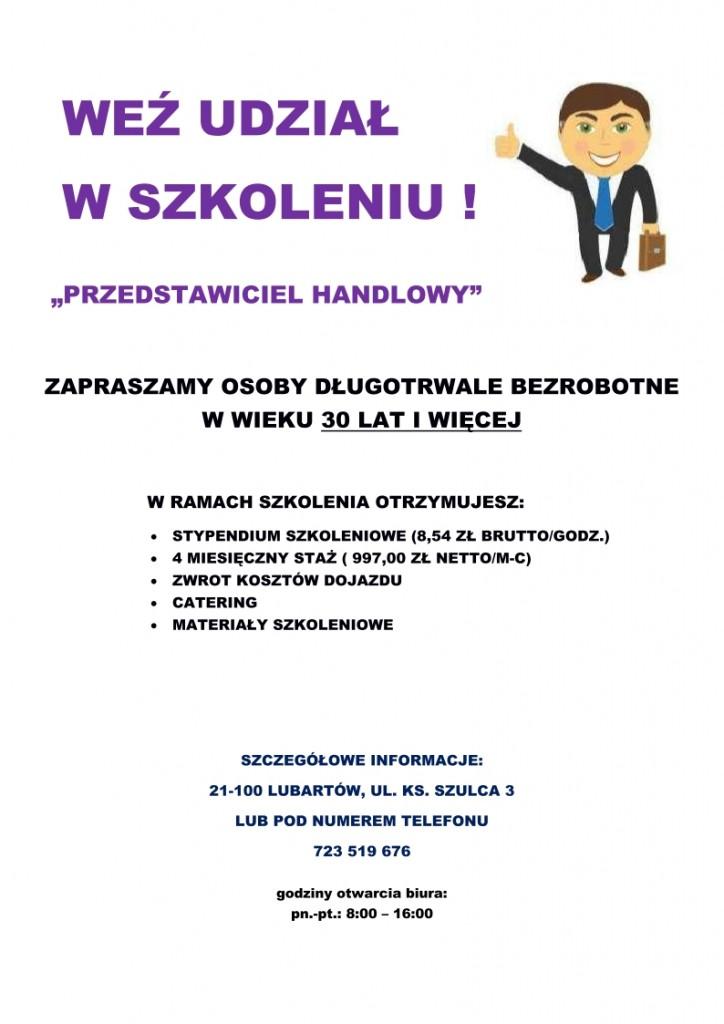 Plakat Przedstawiciel Handlowy