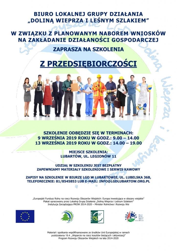 plakat przedsiębiorczość